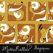 Majapuu Original Production: GOTS organic cotton FoxBox ocre - burned orange,  Design by Mutturalla
