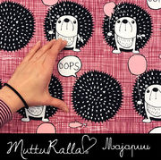 Majapuu Original Production: GOTS organic cotton OOps! Warm baby pink - burgundy,  Desing by Mutturalla