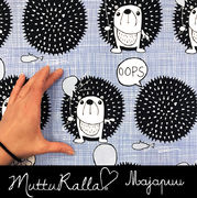 Majapuu Original Production: GOTS organic cotton OOps! Baby blue - sky blue,  Desing by Mutturalla