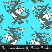 Majapuu Original Production: GOTS organic cotton Dragon turquoise Design by Leena Renko